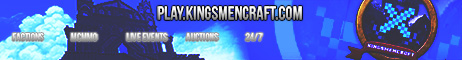 ☞[1.5] KingsmenCraft PvP Factions Server || Auctions || Tournaments || MobArena || Duels || CTF || Hunger Games ||☜