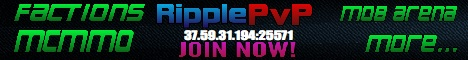 RipplePvP 1.6.4 [FACTIONS] [MCMMO] [MOB ARENA] [MORE...]