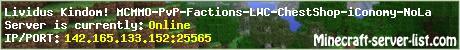 Lividus Kingdom PvP FACTIONS 24/7 No Lag